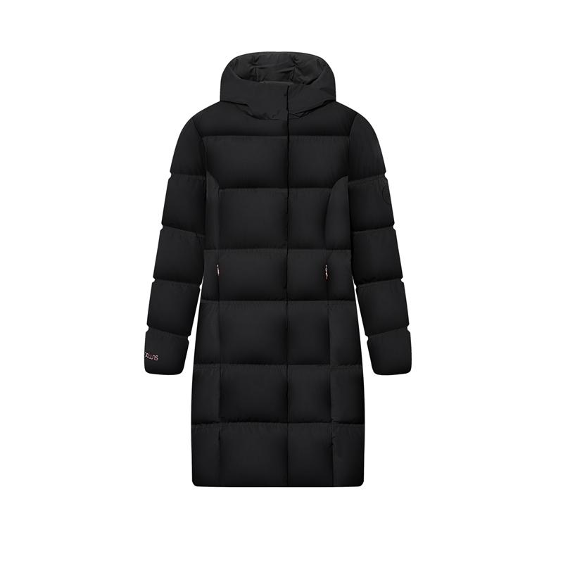 特步 专柜款 女子羽绒服 20年冬季新款 舒适保暖中长款外套980428190331