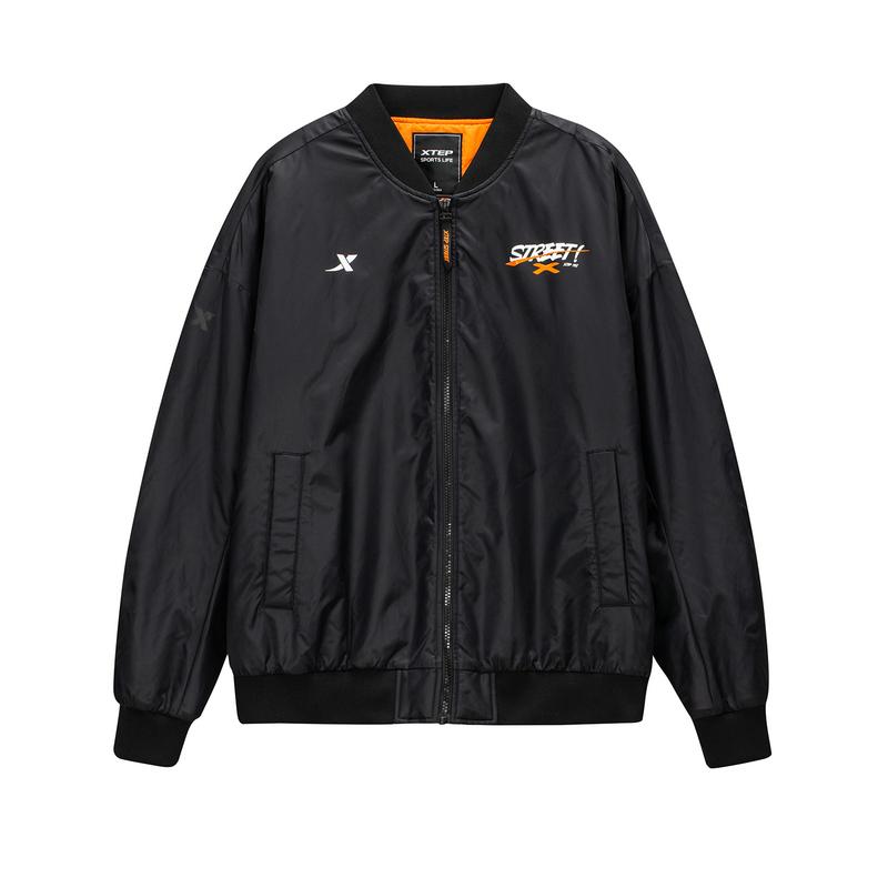 特步 专柜款 男子棉服 20年冬季新款 时尚百搭拉链保暖外套980429170244