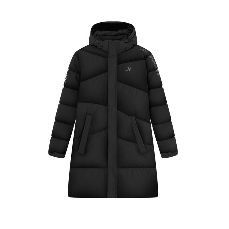 特步 专柜款 男子羽绒服 中长款保暖外套980429190303