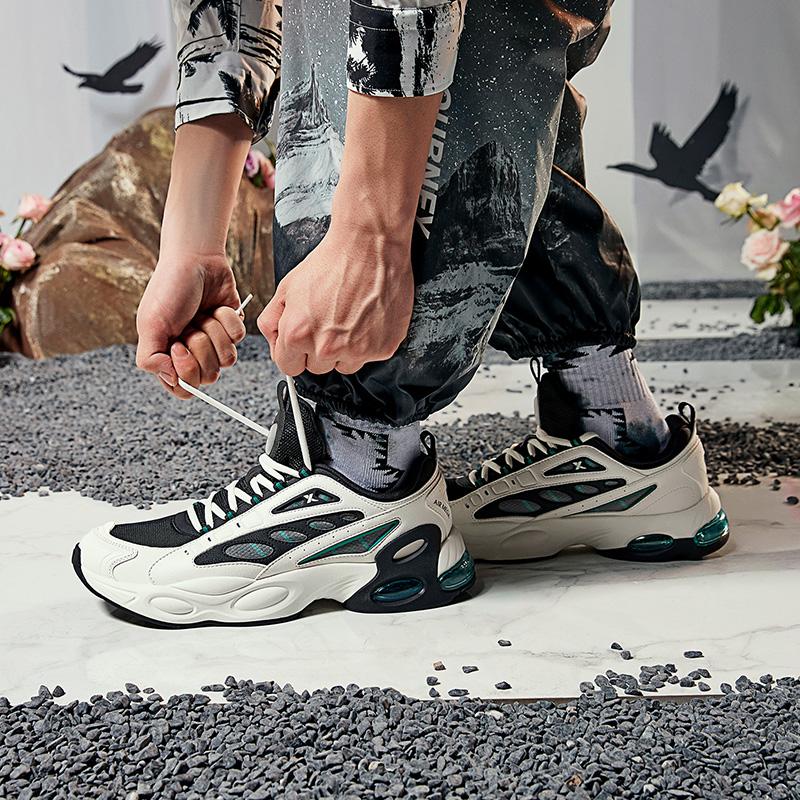 【山海系列】特步 男子休闲鞋 新款山海比翼气垫老爹鞋880319320063