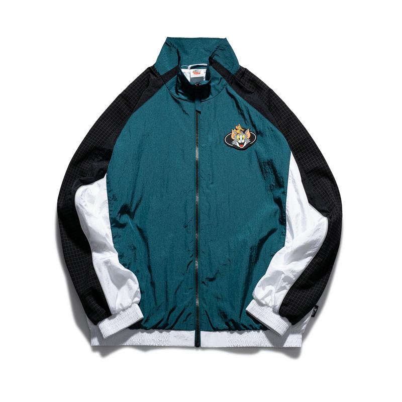 【猫和老鼠】特步 男子双层风衣 21年新款 时尚活力立领外套879129150159
