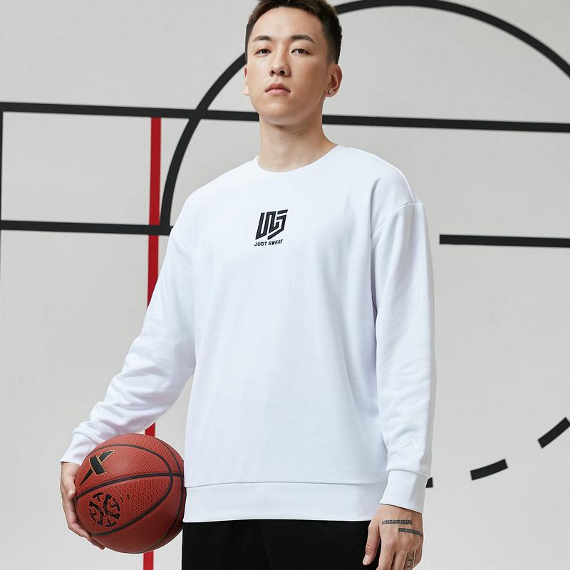 【篮球*吾界】特步 男子卫衣 21年新款 运动简约套头卫衣879129920095