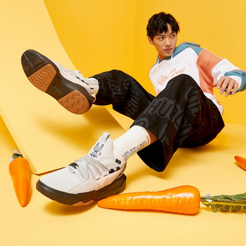 【兔八哥联名款】特步 男子板鞋 新款 复古街头休闲板鞋880419316566