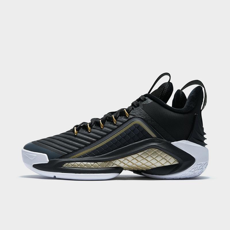 特步 专柜款 男子棉鞋 20年新款 加绒厚底减震篮球鞋980419371186