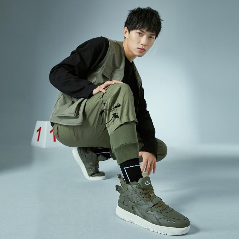 【逆战2.0】男子板鞋  新款谢霆锋同款高帮革面舒适简约板鞋 880319310083