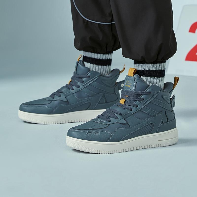 【逆战2.0】特步 男子板鞋  新款谢霆锋同款高帮革面舒适简约板鞋 880319310083
