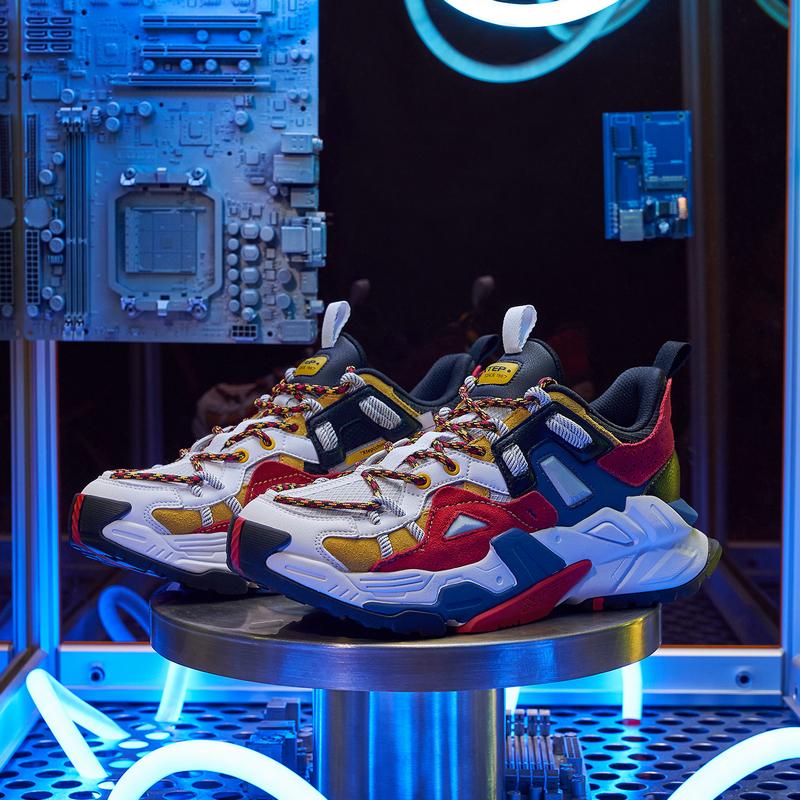 【机甲系列】男子休闲鞋 新款撞色革面时尚运动鞋老爹鞋880319320068