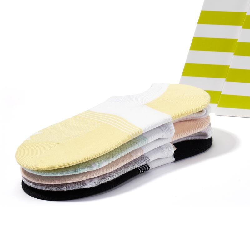 特步 女子袜子 21年新款(5双装)平板船袜879138530018