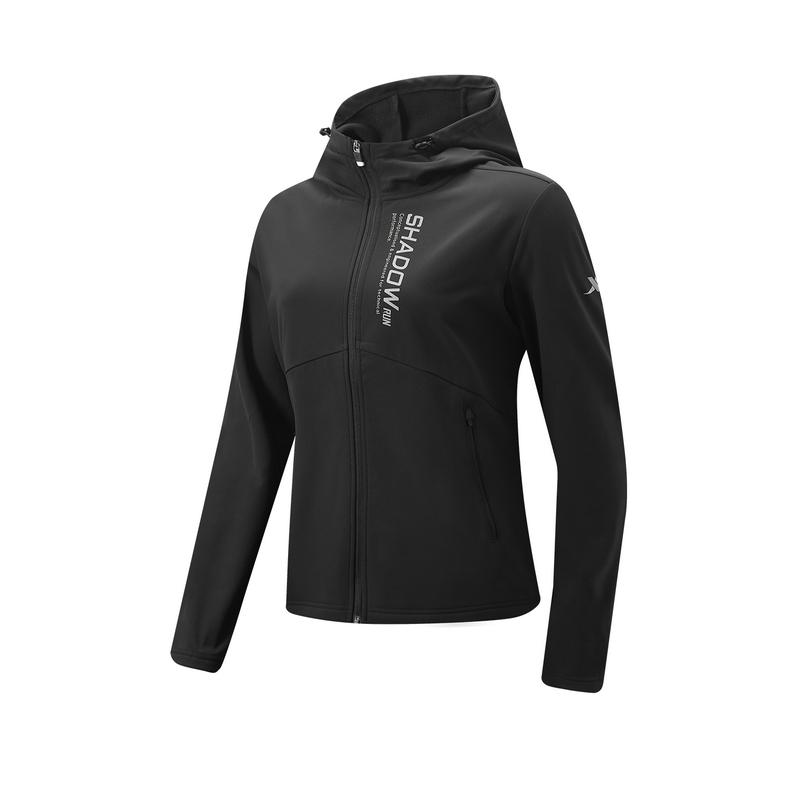 特步 专柜款 女子风衣 新款 跑步运动冬季保暖连帽外套980428160105