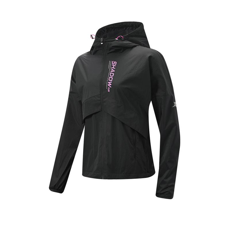 特步 女子保暖外套 20年新款 跑步运动休闲连帽保暖风衣980428160106