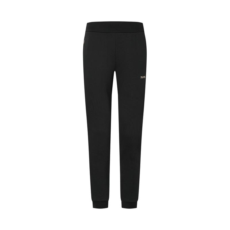 特步 专柜款 女子针织裤 20年新款 都市综合训练跑步针织长裤980428630085