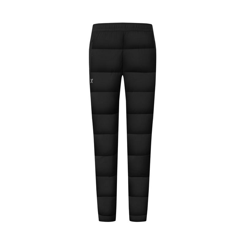 特步 专柜款 女子羽绒裤 冬季新款 户外保暖加绒长裤980428860114