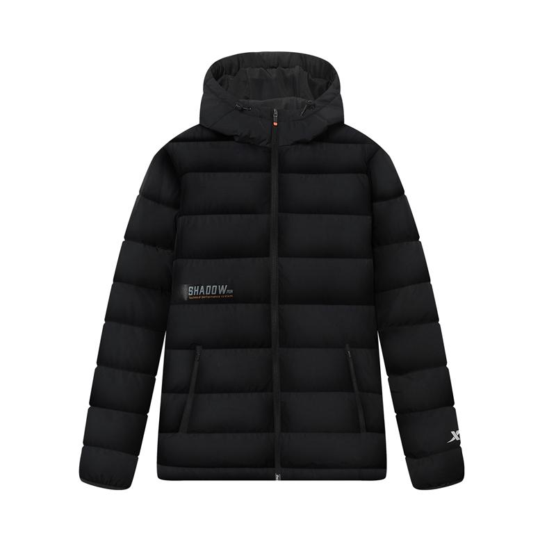 特步 专柜款 男子羽绒服 新款 跑步运动保暖连帽外套980429190346