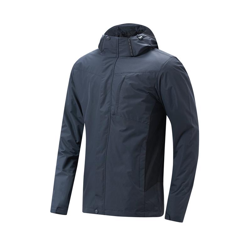 特步 专柜款 男子保暖外套 新款 户外防风连帽上衣980429660161