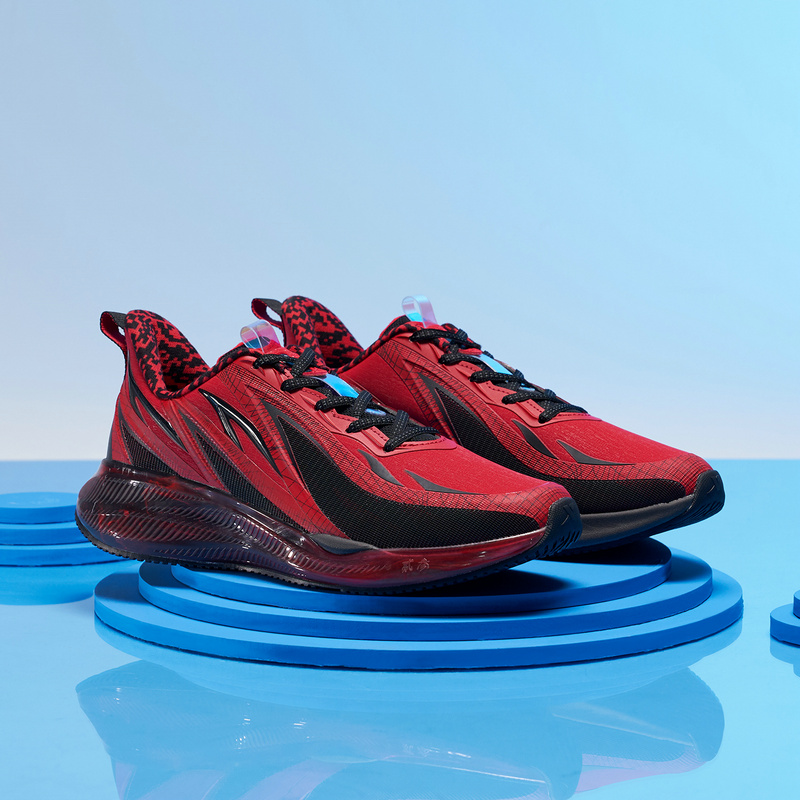 【风火鞋23代】特步 专柜款 男子跑鞋 新款革面厚底防滑减震跑鞋明星同款风火鞋 980419110998