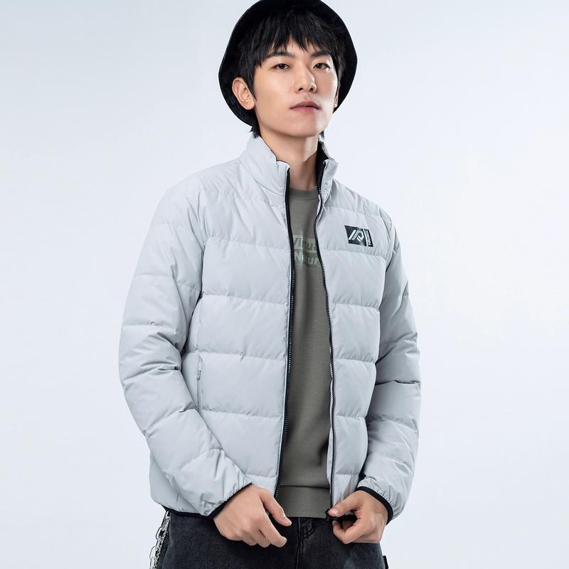 【汪东城同款】专柜 男子羽绒服 新款 防风保暖灰鸭绒棉衣980429190521