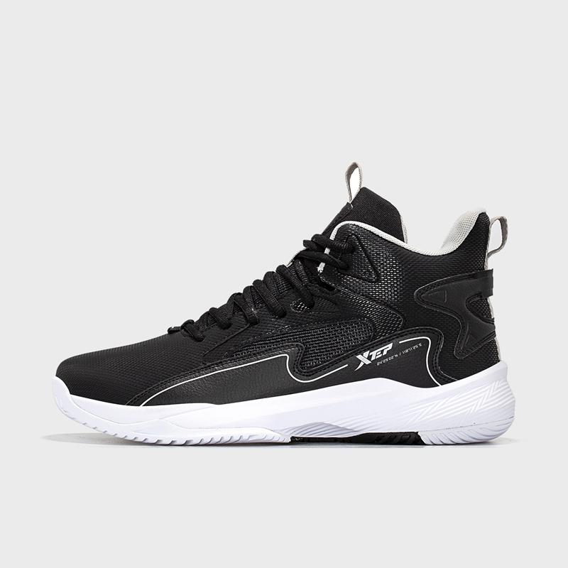 特步 男子篮球鞋 21年新款 防滑耐磨高帮运动鞋879119127057