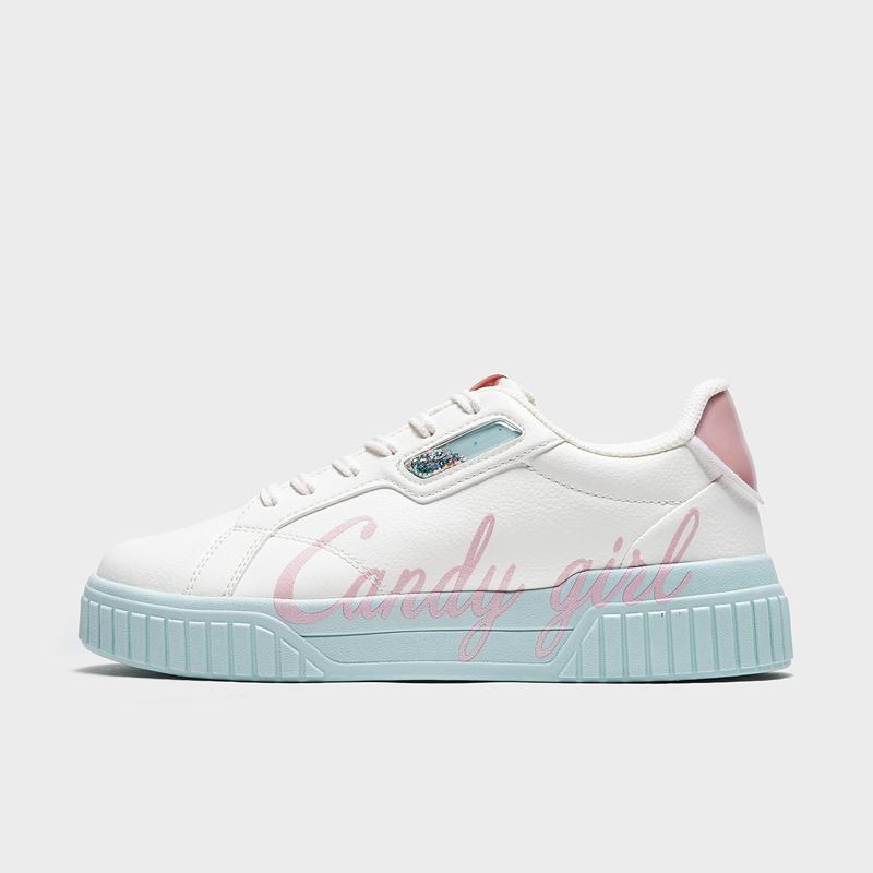 特步 专柜款 女子板鞋 21年春季新款 休闲板鞋平底小白鞋979118316765