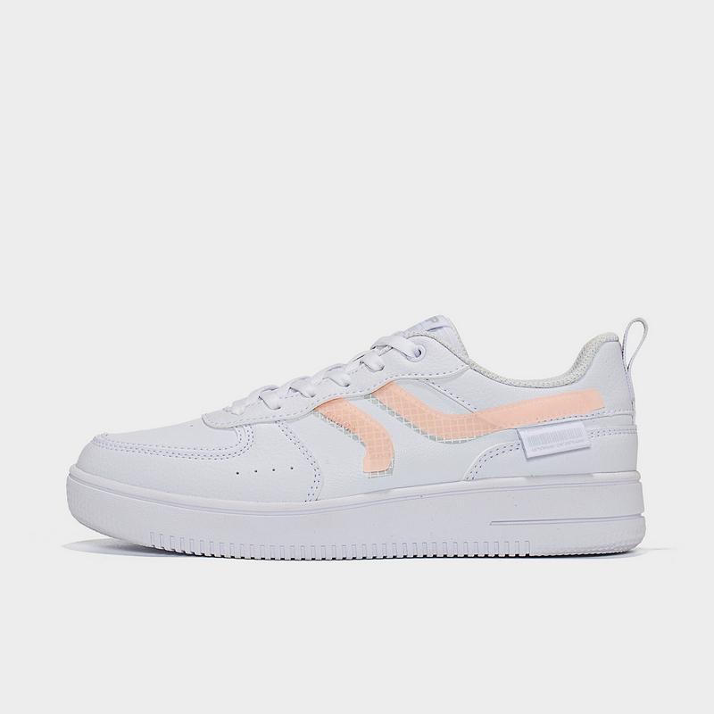 特步 女子板鞋 21年新款 简约百搭平底小白鞋879118317031