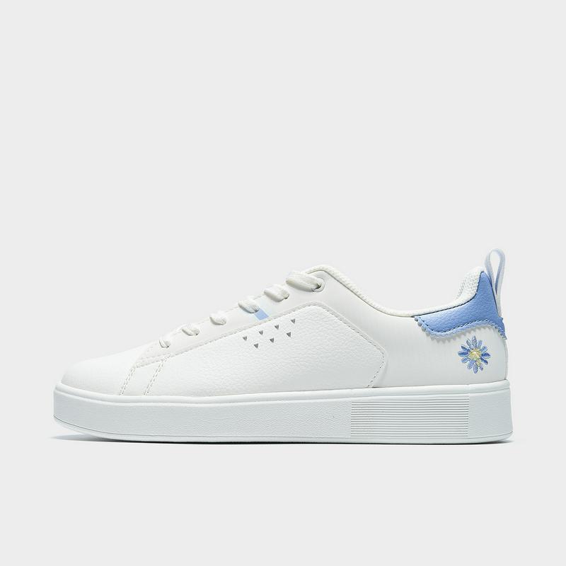 特步 专柜款 女子板鞋 21年新款 简约休闲百搭小白鞋979118316870