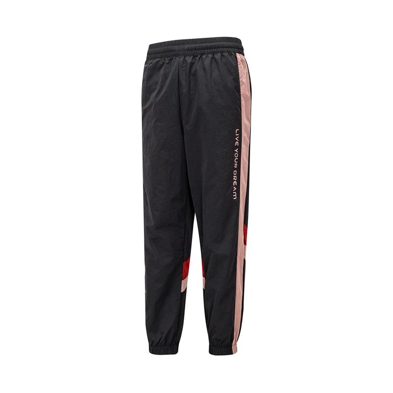 特步 女子梭织长裤 21年新款 综合训练跑步运动梭织裤879128980044