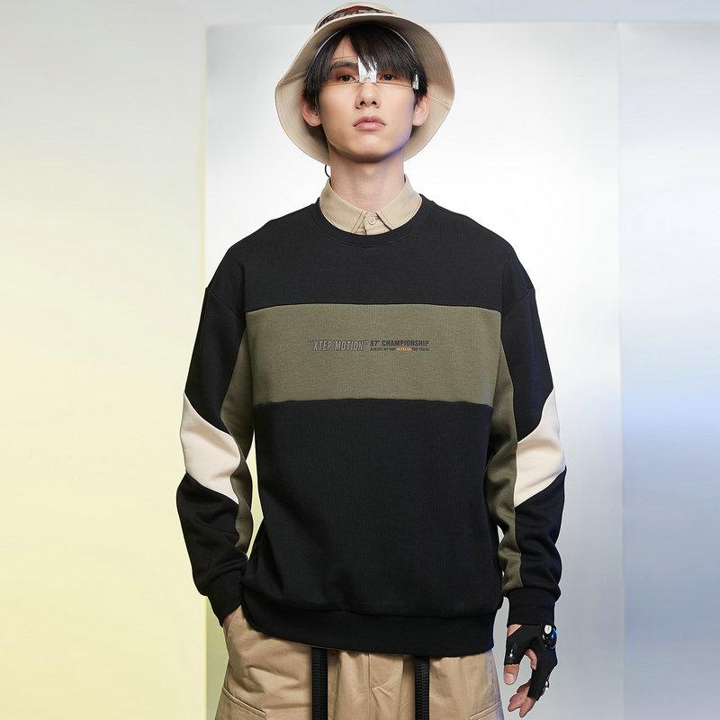 特步 男子卫衣 21年新款 都市时尚百搭休闲套头卫衣879129920179