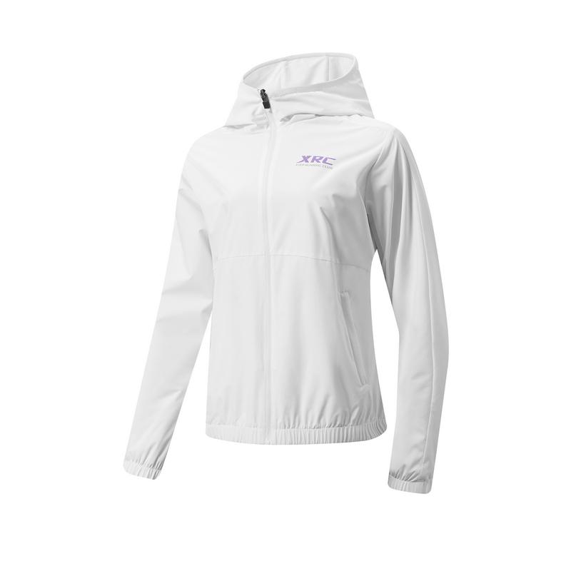 特步 专柜款 女子风衣 21年新款 都市跑步运动防风保暖风衣979128160164