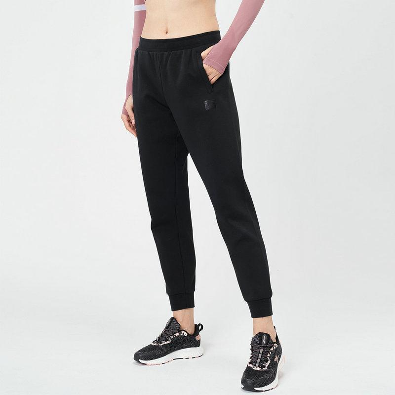 特步 女子针织长裤 21年新款 都市休闲运动收脚针织裤979128630122