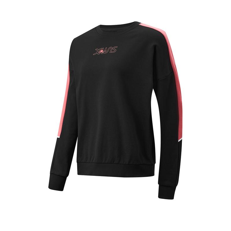 特步 专柜款 女子卫衣 21年新款 综合训练 运动健身套头卫衣979128920394