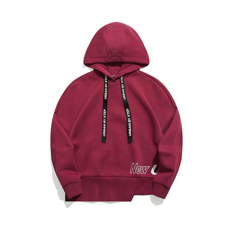 特步 专柜款 女子卫衣 21年新款 都市潮流连帽卫衣979128930132