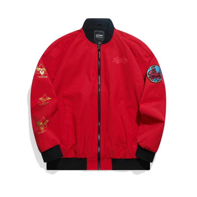【牛转乾坤】特步 专柜款 男子夹克 21年新款 林书豪同款街头潮流时尚保暖外套979129130065