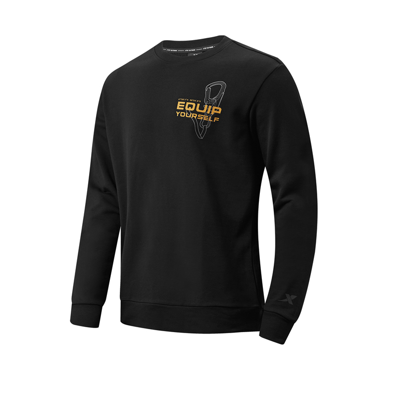 特步 专柜款 男子卫衣 21年新款 户外跑步休闲套头卫衣979129920058