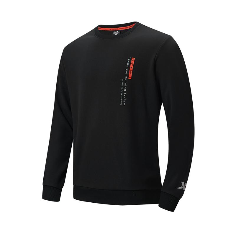 特步 专柜款 男子卫衣 21年新款 跑步运动休闲套头卫衣979129920179