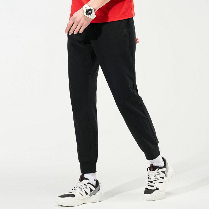 特步 男子针织长裤 21年新款 运动修身休闲收脚针织裤879229630098