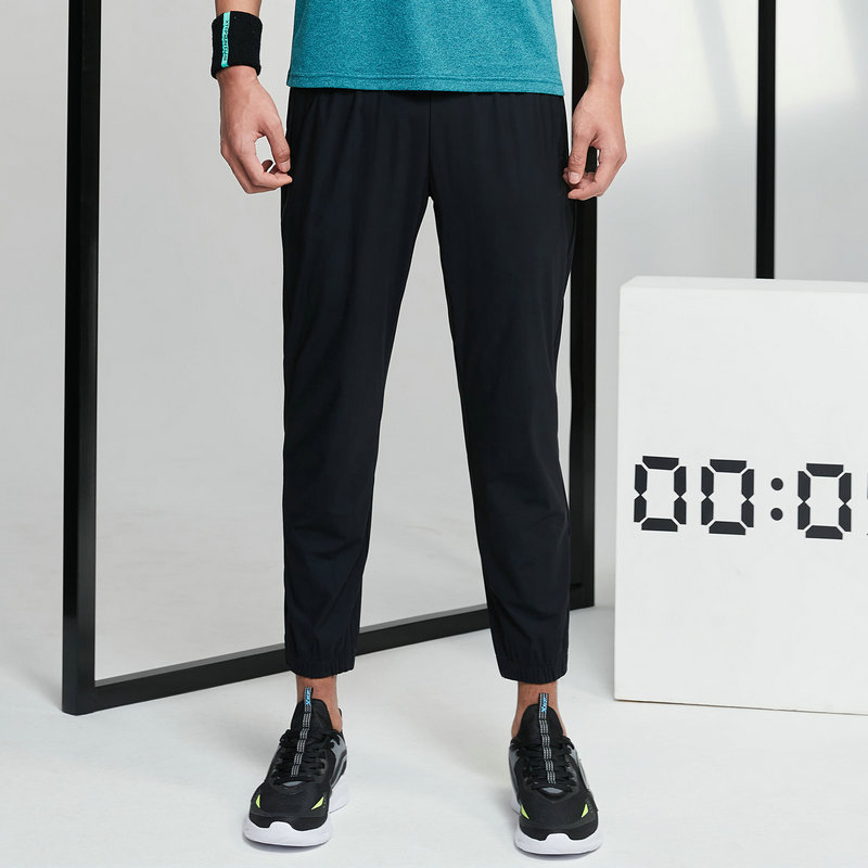 特步 男子针织九分裤 21年新款 跑步休闲九分裤879229840247