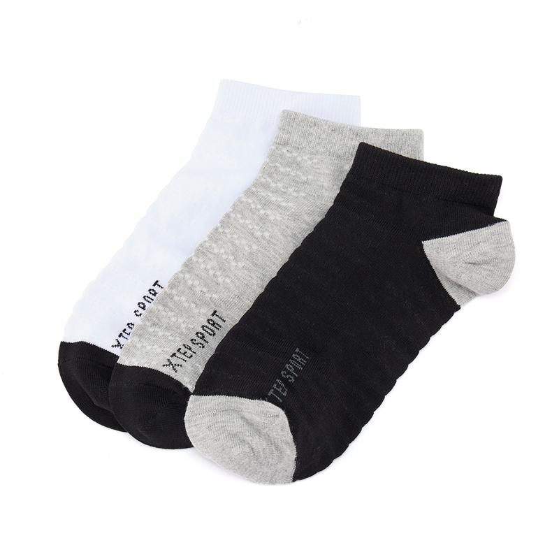 特步 男子运动袜 21年新款(3双装)运动透气平板短袜879139540021