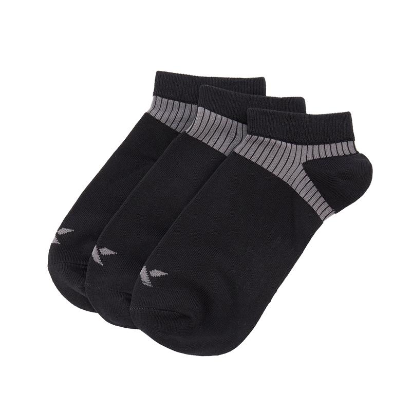 特步 男子平板短袜 21年新款(3双装) 运动吸汗透气短袜879139540022