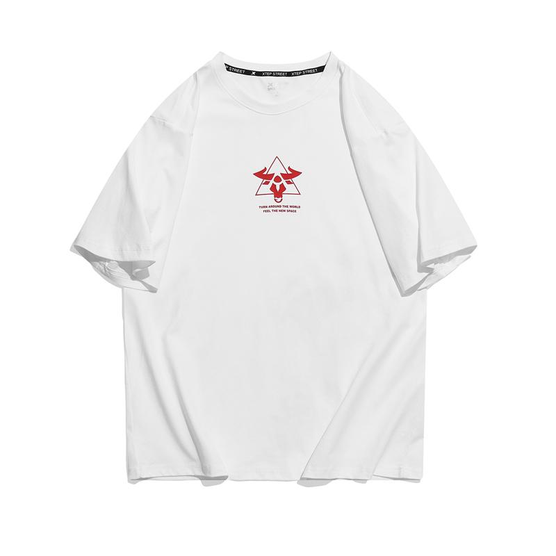 【牛转乾坤】特步 专柜款 男子短袖针织衫 21年新款 街头潮流短袖979129010367