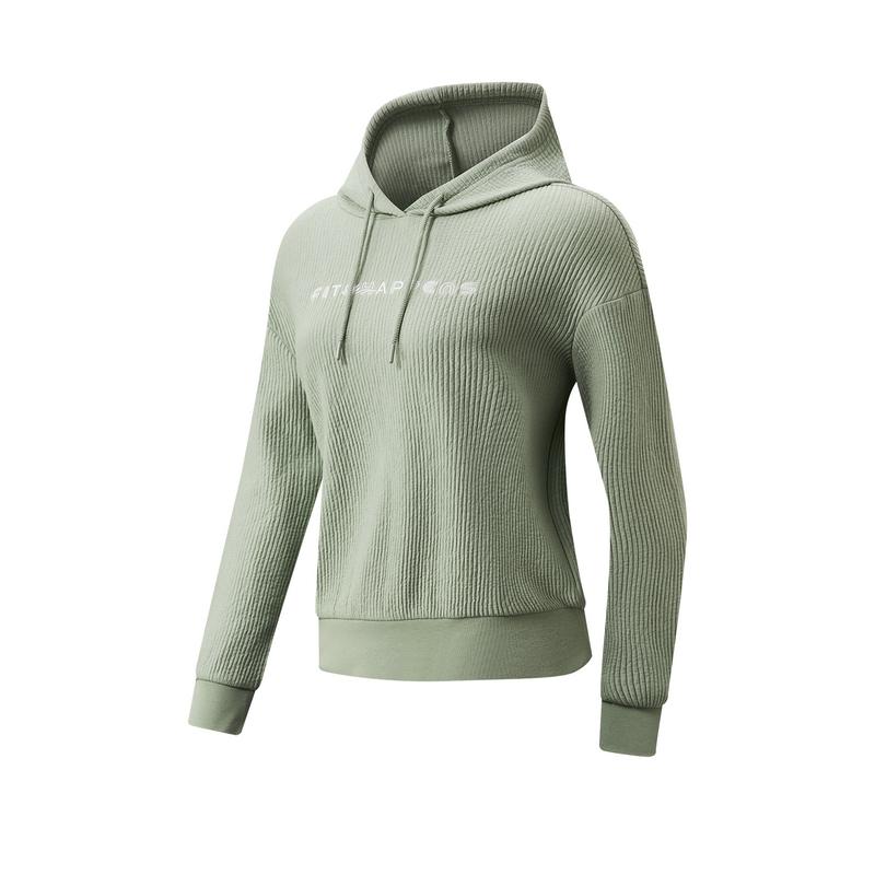 特步 专柜款 女子卫衣 21年新款 综合训练运动上衣连帽卫衣979128930229