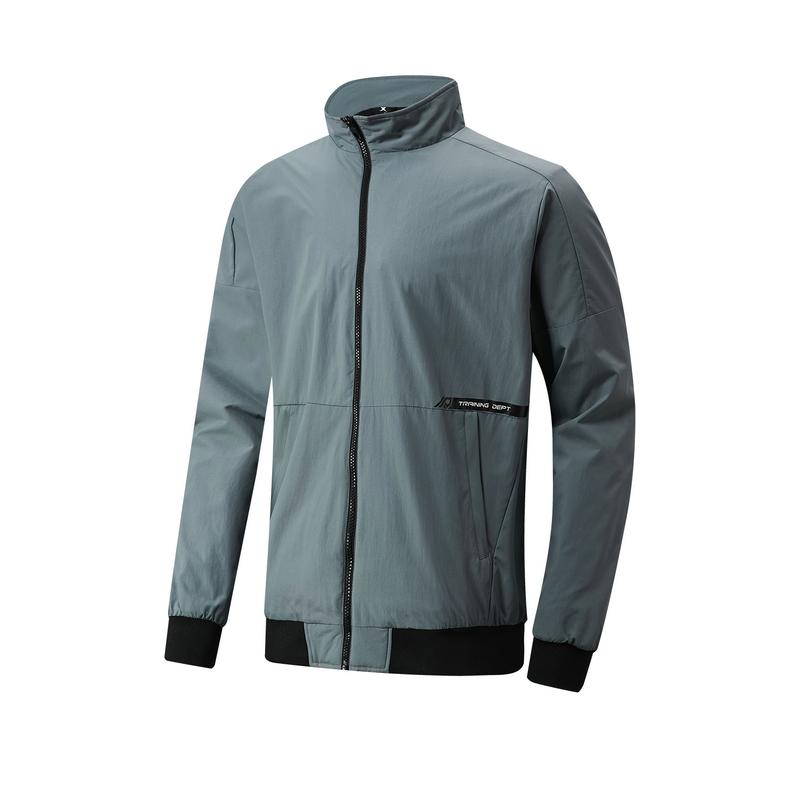 特步 专柜款 男子保暖夹克 21年新款 运动跑步拉链上衣979129130289