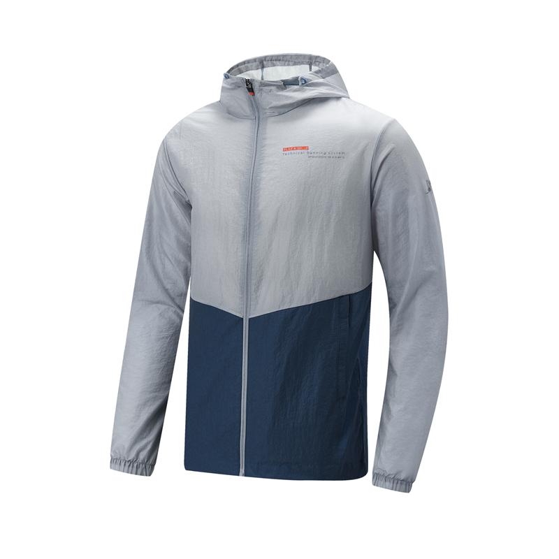 特步 专柜款 男子单风衣 21年新款 跑步健身连帽外套979129140574