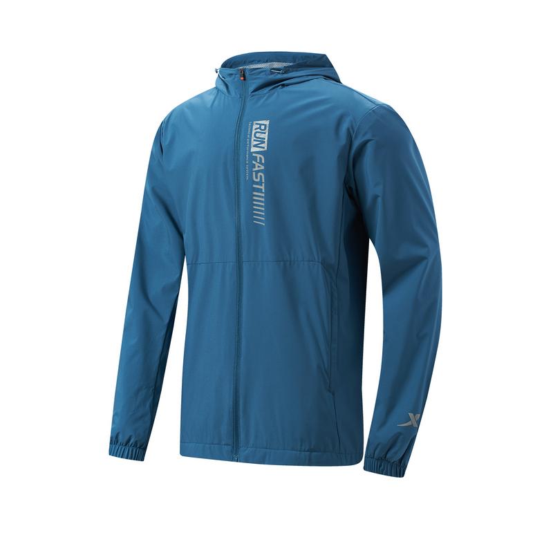 特步 专柜款 男子保暖风衣 21年新款 时尚跑步运动外套979129160183
