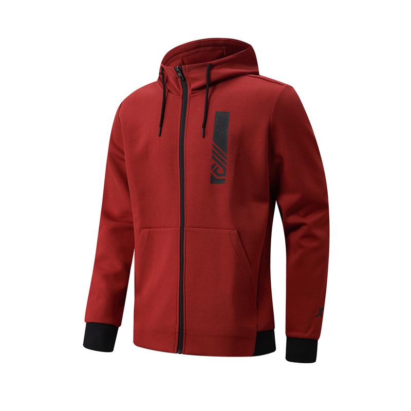 特步 专柜款 男子针织连帽上衣 21年新款 简约综合训练运动上衣979129940545
