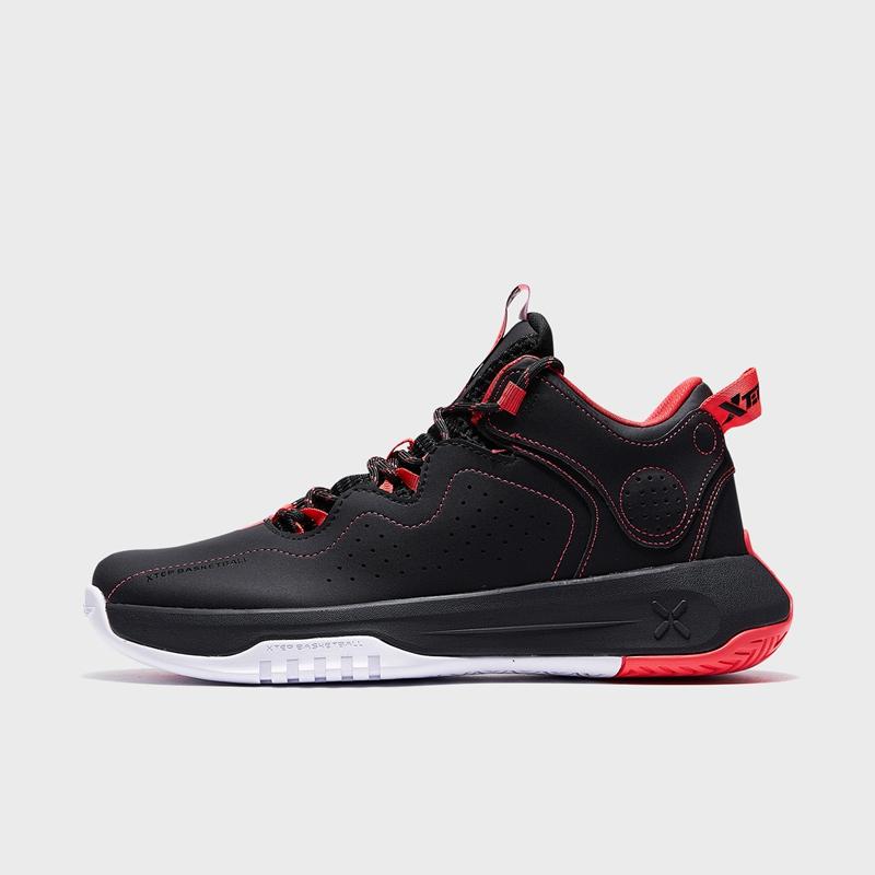 特步 专柜款 男子篮球鞋 21年新款 中帮厚底减震舒适球鞋979119121362