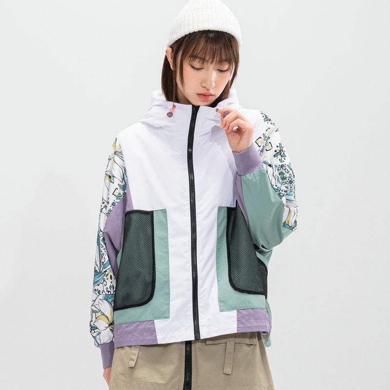 特步 专柜款 女子双层夹克 21年新款 街头潮流防风上衣979128120009