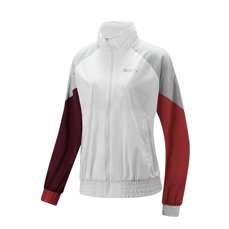 特步 专柜款 女子双层夹克 21年新款 时尚拼色防风外套979128120384