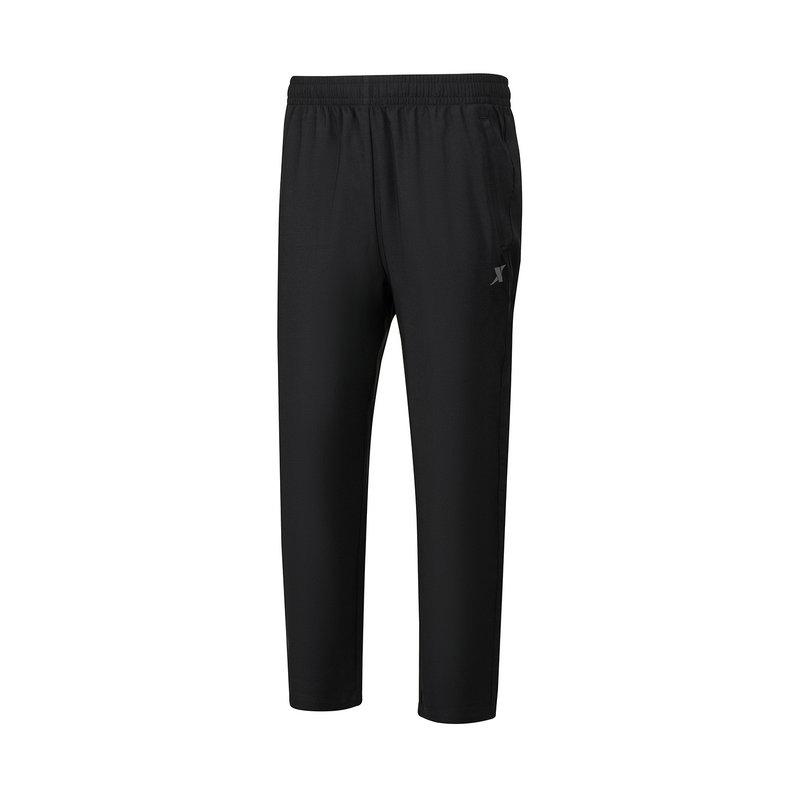 特步 男子梭织运动长裤 21年新款 宽松开口综合训练运动裤879229980231