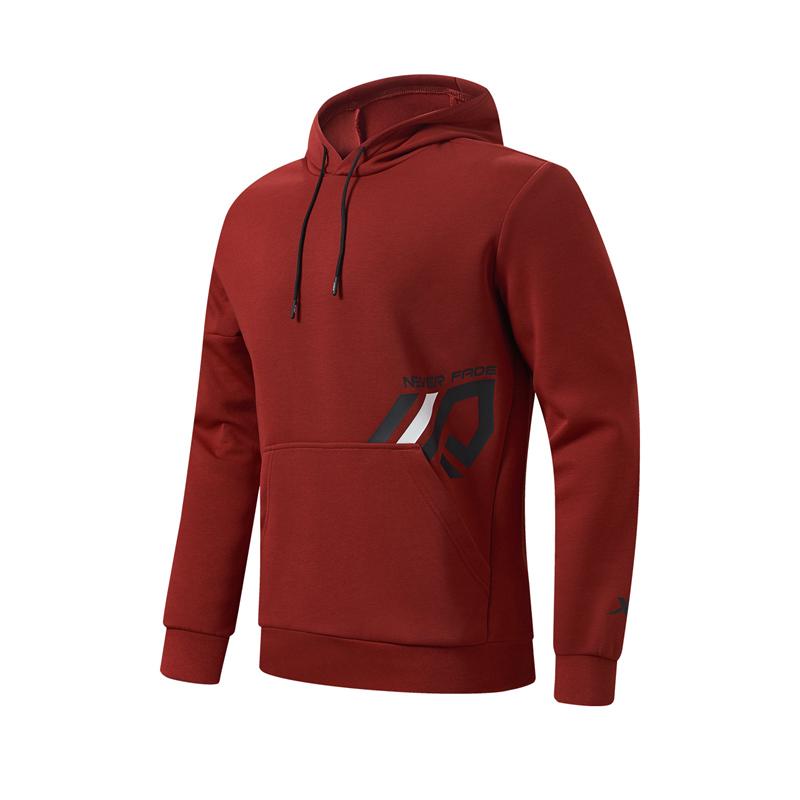 特步 专柜款 男子卫衣 21年新款 休闲运动综合训练连帽卫衣979129930307
