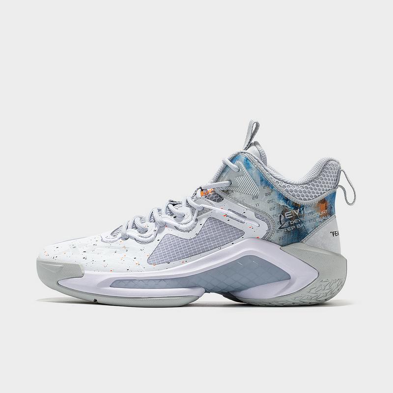 特步 男子篮球鞋 21年新款 厚底潮流高帮缓震运动篮球鞋879219120555