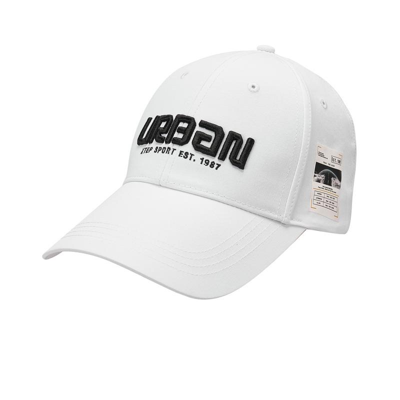 特步 男女同款帽子 新款刺绣百搭经典防晒鸭舌帽880237210015